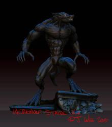 Jc-werewolf-statue-2 by dypsomaniart