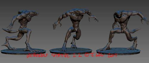 Jc-werewolf-statue-2.2 by dypsomaniart