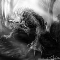 werewolf speedsketch by dypsomaniart