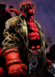 Hellboy - colored by grenzmord