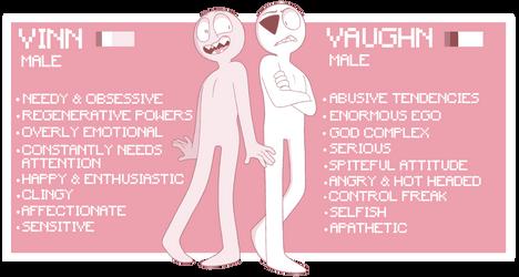 Vinn And Vaughn Ref Sheet 2018 by Retrodile