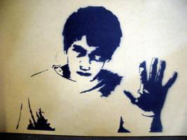 Donnie Darko Stencil by Darko88