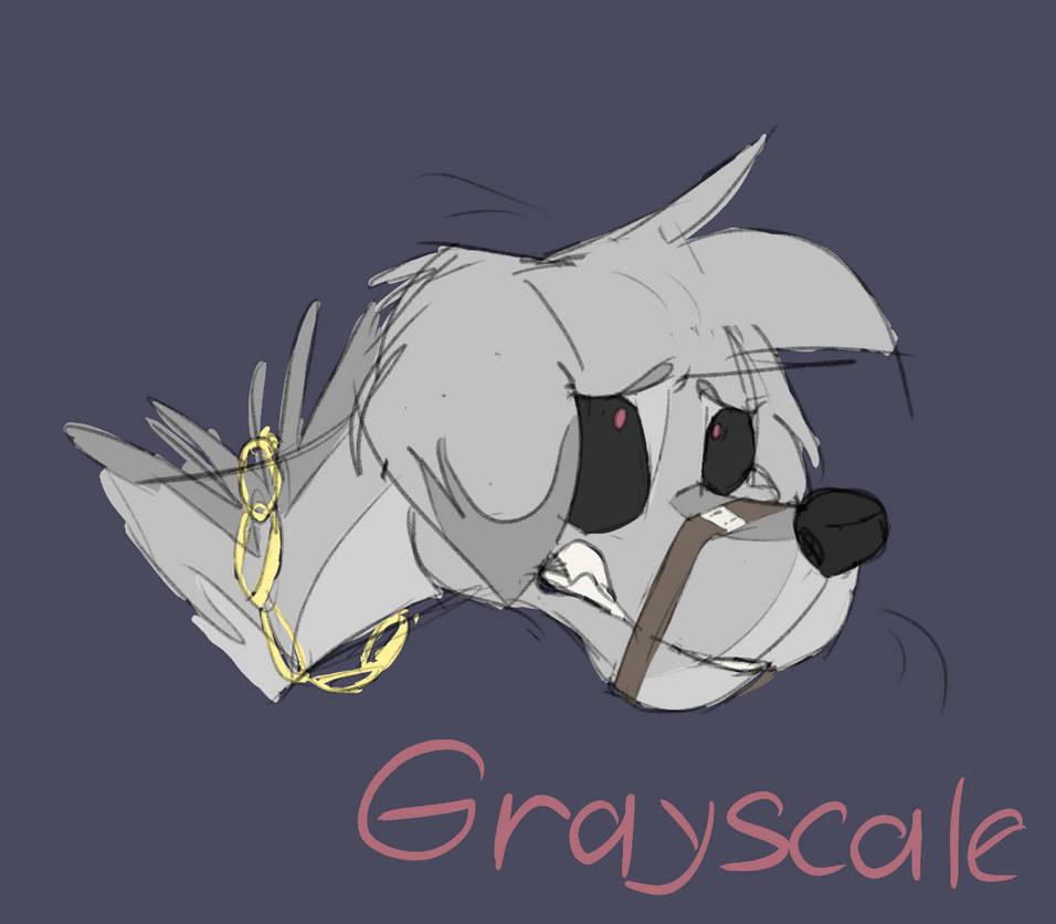 Grayscale (rough sketch) by Tea-Fennec