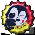 Felix The Cat Bottle Cap by bountyhunter25