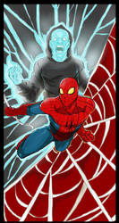 Spidey and Electro by Dericules