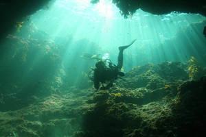 underwater cavern by olivetwist