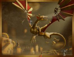 Steampunk Dragon by Arvata