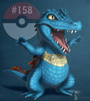Totodile #158 by Arvata