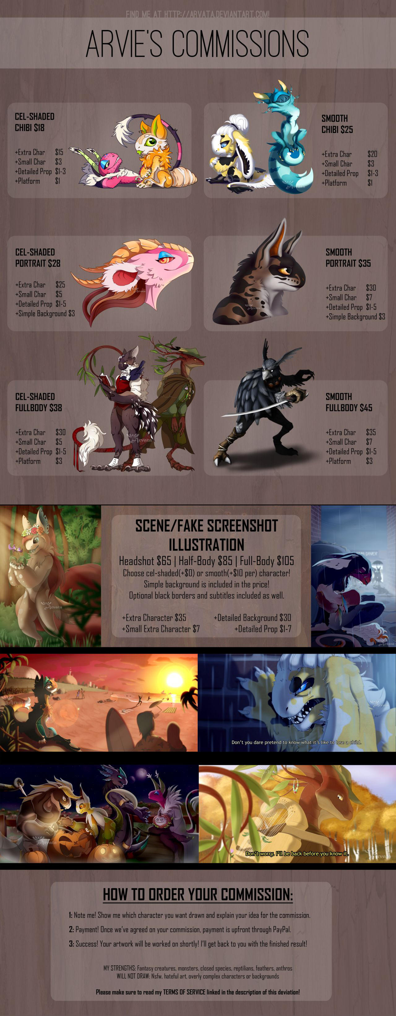 Arvie's Commission Info (CLOSED) by Arvata
