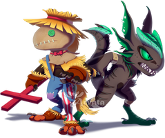 CM: Chibi-Skrem and Dill by Arvata