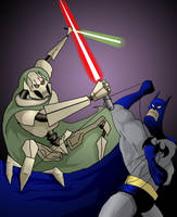 Batman VS Grievous by johnnyBgood007