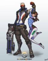 Overwatch-soldier76 D.Va by katoyo