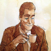 Dale Cooper coffee painting by DominoBear