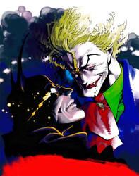 Batman and Joker by Bunkosu