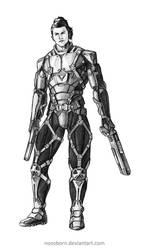 Concept Art Commission Future Soldier Male A by NOOSBORN