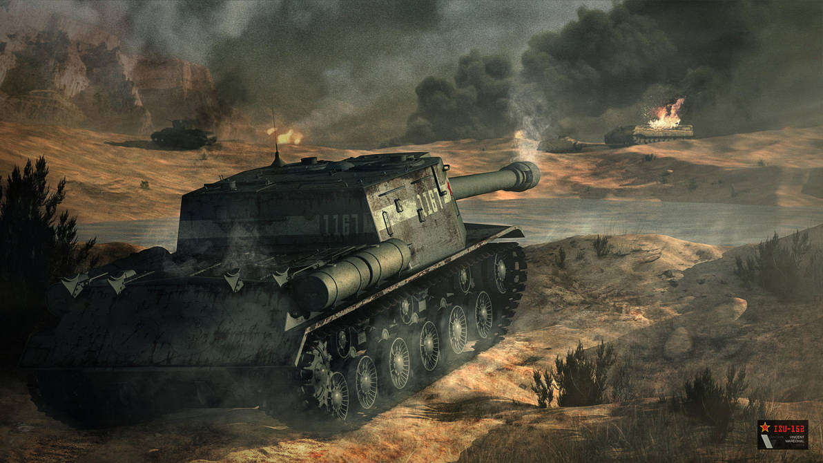 ISU-152 - Soviet tank destroyer by Vanishin