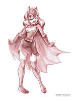 Red Batgirl Pencils by ArtofLaurieB