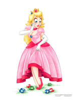 Princess Peach Pencils by ArtofLaurieB