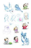 Art of B sketches 2-21 by ArtofLaurieB