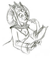 Queen Amidala Roughs by ArtofLaurieB