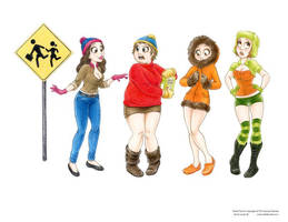 South Park Girls by Laurie B by ArtofLaurieB