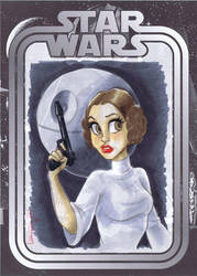 Fan Expo Leia Sketch by ArtofLaurieB