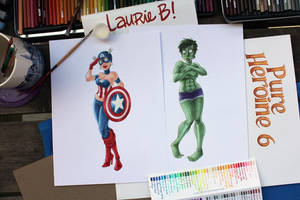 Captain America and Hulk by ArtofLaurieB
