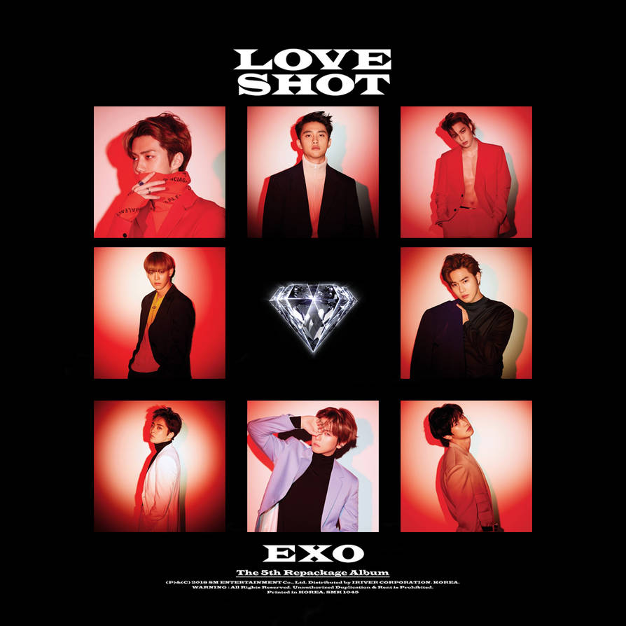 Exo Love Shot 5th Repackage Album Cover By Thesentimentalmisfit On