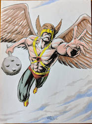 Hawkman commission for free comic day by LandonFranklin