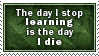 Stop Learning, Die Stamp by SparkLum