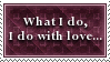 Do It With Love Stamp by SparkLum