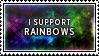 Rainbows Stamp by SparkLum