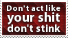 Sh-t Don't Stink Stamp by SparkLum