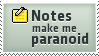 Paranoid Notes Stamp by SparkLum
