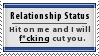 Dont Hit on Me Stamp by SparkLum