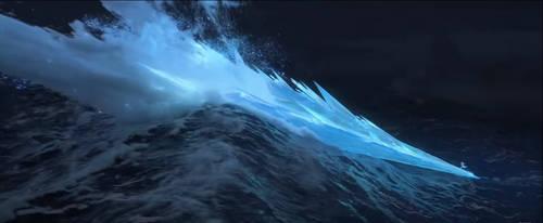 Elsa's power on Frozen II trailer by diebitch2947