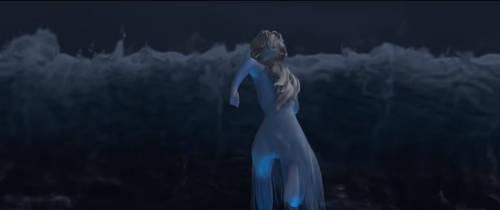 Elsa vs Ocean by diebitch2947