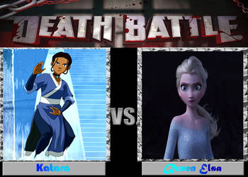 DEATH BATTLE: Katara VS Elsa by diebitch2947
