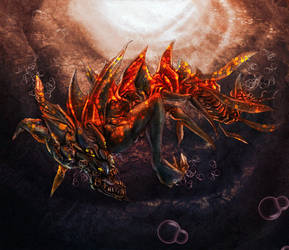 Sea monster by Zazukudap