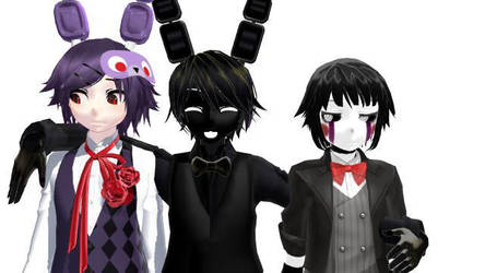 [MMD Fnaf] The Squad Be LIke.... by Insanity9807
