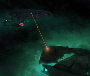 Enterprise vs Warbird by CrisisEnvy