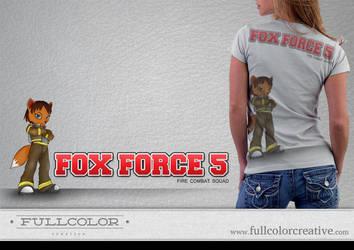 Fox Force 5 Logo by FullcolorCreative