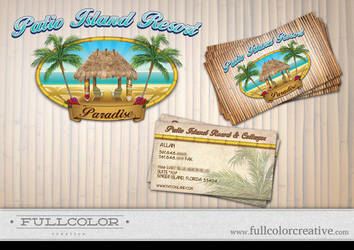 Patio Island Resort Logo by FullcolorCreative