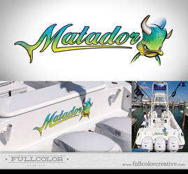 Matador Boat Signage by FullcolorCreative