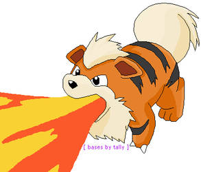 'Growlithe, use ember' by basesbytally