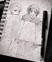 Levi and Eren by zelo-chann