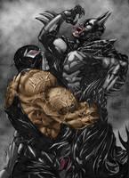 Batman vs. Bane by FlashColorist
