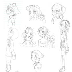 Pokemon sketches by haylin606