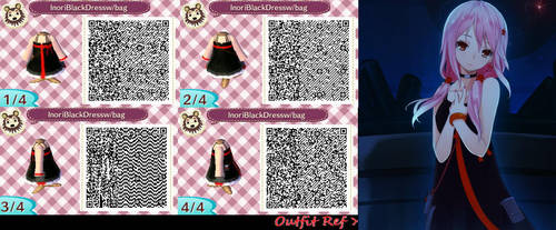 Animal Crossing Black Dress With Bag by VesselofEve