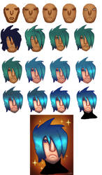 Blue Hair - Step by Step Process by TheUnHolyDarkth